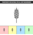 simple outline transparent wheat spelt rye or vector image vector image