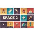 space - set flat design infographics elements vector image