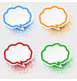 speech bubble set transparent background vector image vector image
