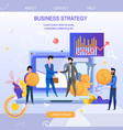 square flat banner business strategy vector image vector image