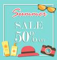 summer sale template banner illurstrator design vector image vector image