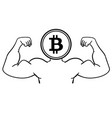 the concept of strong bitcoin vector image vector image