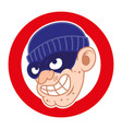 thief bad face vector image vector image