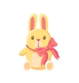 Toy Yellow Bunny vector image vector image