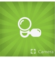 Video camera icon in minimal style vector image