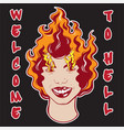 welcome to hell quote typographical background vector image