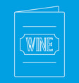 wine menu icon outline style vector image vector image
