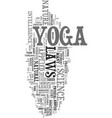 yoga for stress relief text word cloud concept vector image vector image