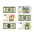 fake dollars and euro vector image