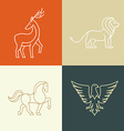 linear icons and logo design elements vector image