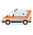 cartoon van medical car ambulance vehicle vector image