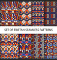 collection of colorful pixel patterns vector image