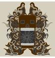 zentangle style skull vector image