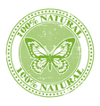 100 natural stamp vector image