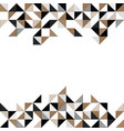 a gold and black geometric background vector image vector image