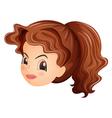 A head of a pretty girl vector image vector image