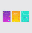 abstract poster design set creative cover vector image vector image