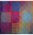 Abstract Seamless Patterns on Triangular vector image vector image