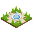 beautiful fountain in the park a zone of rest and vector image vector image