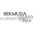 bermuda rock lizard text word cloud concept vector image vector image