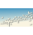 bird roost cutout vector image vector image