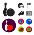 bowl and bowling pin for bowling protective vector image
