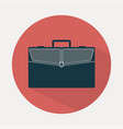 briefcase icon flat style vector image
