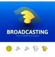 Broadcasting icon in different style vector image