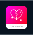 broken love heart wedding mobile app button vector image vector image