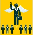 Businessmen flying with a wings vector image vector image