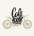 cafe racer vintage motorcycle hand drawn t-shirt vector image vector image