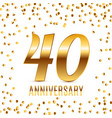 celebrating 40 anniversary emblem template design vector image
