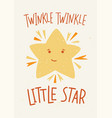 childish poster template with twinkle twinkle vector image