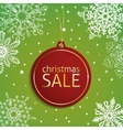 Christmas sale tag on a snowy background vector image vector image