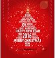 christmas tree card 1 vector image