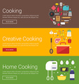 Cooking Creative Cooking Home Cooking Flat Design vector image vector image