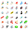cyber protect icons set isometric style vector image vector image