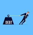 debtor business concept vector image vector image