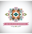 decorative element on native ethnic style vector image vector image