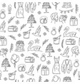 doodle wedding seamless pattern with decorative vector image vector image