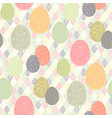easter boho pattern vector image vector image