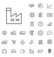 economics outline thin flat digital icon set vector image