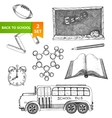 Education school set vector image vector image