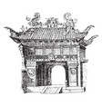entrance-gate to the temple of confucius at vector image vector image