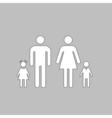 Family computer symbol vector image