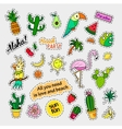 Fashion patch badges Tropical set Stickers pins vector image vector image
