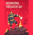 firefighters day card vector image