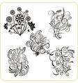 Floral Design - set easter symbols vector image vector image