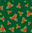 floral seamless background christmas pattern vector image