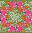 flower mandala seamless pattern ethnic oriental vector image vector image